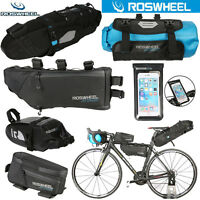 ROSWHEEL Cycling Phone Frame Bag Bicycle Tail Pannier Seat Saddle Bag Waterproof