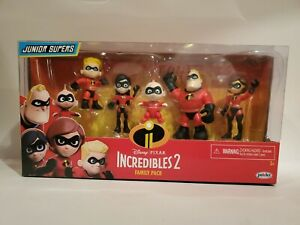 The Incredibles 2 Family Pack Junior Supers Action Figures 3 Inch Kids Toys