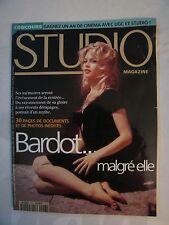 SUPERBE  REVUE  STUDIO  MAGAZINE  SPECIAL  BRIGITTE  BARDOT ( 30 PAGES )