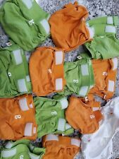 12 Medium Gdiapers With Pouches / Plastic Liners 13-28 Lbs