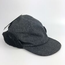 2bf781d88d7 OshKosh Infant Trapper Hat Charcoal Gray Black Wool New Button Up Fleece Boy