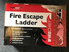 BNIB 3 Storey Genuine Firechief Fire Escape Ladder Emergency 7.5M 25ft