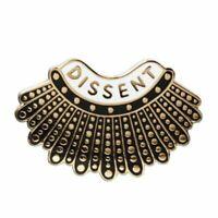 Dissent Collar Pin Rbg Ruth Bader Ginsburg Badge