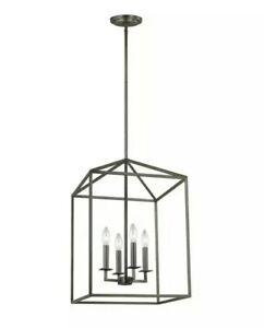 "Sea Gull Lighting 5215004-782 Transitional 4 Light Hall/Foyer Pendant 12.25"""
