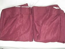 "2 Panels Burgundy  Wine Pinch Pleat Drapes Fully Lined Fits Window 74""""W X84""L"