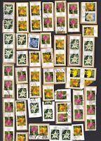 Hohe Werte Blumen .. Rund Stempel .. Kiloware auf Papier .... !!! 12 Bilder !!!