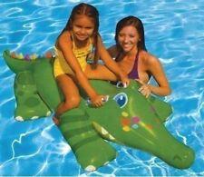 Gonflable Géant Sourire Gator Crocodile Piscine Flotteur A Chevaucher Eau Jouet
