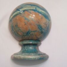 One Marble Bookend Globe Earthy Heavy Unbranded