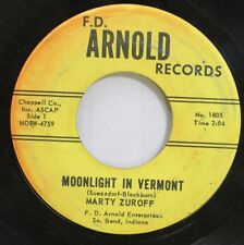 50'S & 60'S 45 Marty Zuroff - Moonlight In Vermont / Foggy Day On F.D. Arnold Re