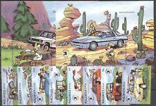 Walt Disney, Automobile - Malediven - 1359-1366, Bl.155-156 ** MNH 1989
