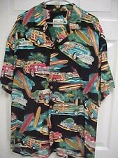 Surfboards Palm Trees PT Cruiser Island Men Hawaiian Camp Shirt Diamond Head