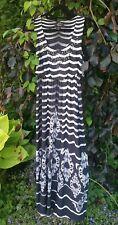 Style &Co Size Small Maxi Dress Black & White-Stretch-Elastic waist-EUC!
