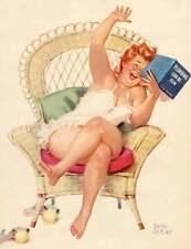 Hilda in Wicker chair Reading Plumming Book by Duane Byers
