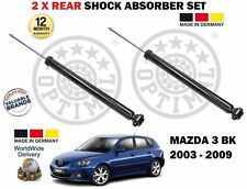 FOR MAZDA 3 BK 1.4 1.6 2.0 2.3 MPS DI 2003-2009 NEW 2 X REAR SHOCK ABSORBER SET
