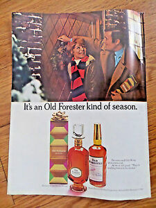 1969 Kentucky Old Forester Whiskey Ad  Christmas Kind of Season