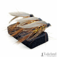 3, 6 or 12x Wickhams Fancy Winged Wet Flies for Trout Fly Fishing