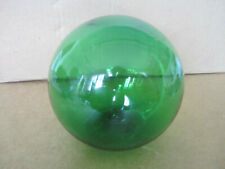 "New listing Green blown glass float ball from Vietnam - 1960s - 4 1/2"" diameter"