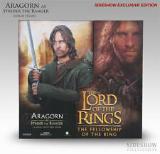Sideshow Lord of the Rings Aragorn Strider Exclusive Figure LotR Hobbit Rare