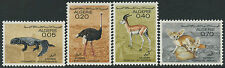 1967 ALGERIE N°447/50** Fennec,Autruche,Gazelle,Fouette Queue,ALGERIA Animal MNH