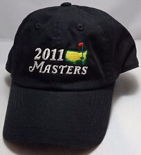 2011 MASTERS GOLF hat cap adjustable black schwartzel 75th augusta