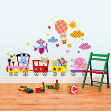 R00119 Wall Stickers Adesivi Murali Trenino baby multicolore 1 120x30 cm