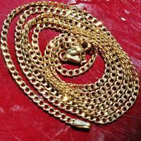 "10k yellow gold necklace 24.0"" Cuban link chain vintage 2.0gr"