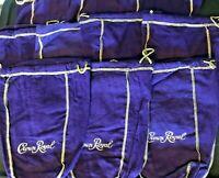 10 Crown Royal Liquor Bags Collectible Memorabilia Liter Size Purple Felt Bag