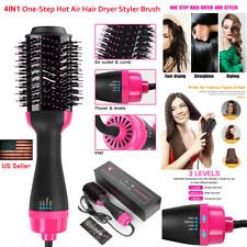 Hot Air Hair Dryer Negative Ion 4in1 One Step Styling Blower Brush Straight Curl