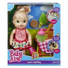 Baby Alive Doll Interactive Baby Alive Snack 'n Spill Baby Blonde Speaks Engl...