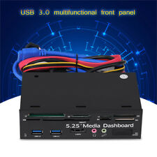 USB3.0/2.0 Port HD Audio PC Media Dashboard Front Panel Card Reader 5.25 inch WD
