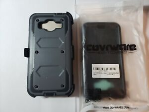 Samsung Galaxy J3 FULL Cover Phone Cases 1 with kickstand and 1 with belt clip