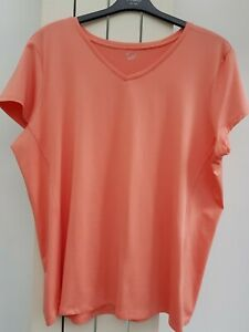 Womans M&S ACTIVE Sportswear pale Orange Top Size 22
