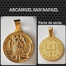 SAN RAFAEL COLGANTE ARCANGEL PLATA CHAPADO EN ORO SILVER ARCHANGEL SAN RAPHAEL