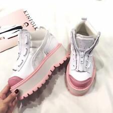 Apricot Wedge Women Ankle Boots Platform Lace up Sneakers Shoes Heels Sports