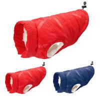 Waterproof Dog Jacket Winter Warm Fleece Dog Coat Vest for Small Medium Dogs Red