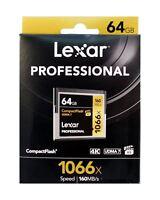 Lexar 64GB 1066X UDMA 7 Professional Compact Flash Card. LCF64GCRBEU1066