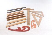 Konvolut Lineal Zeichner Kunst Handwerk Geometrie Vintage Set
