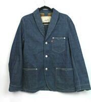 Levi's Women's Size Medium Dark Wash Denim Sport Blazer Jacket Sample NEW