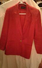 Giorgio Sant'Angelo Womens Red Blazer Size 4