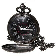 Antiguo Relojes De Bolsillo Steampunk Redondo Cadena Cuarzo Pocket Watch Retro