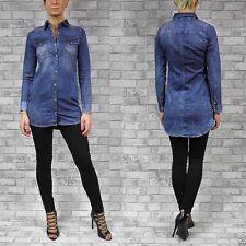 Klassische Langarm Damenblusen, - tops & -shirts im Tuniken-Stil ohne Muster