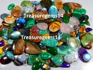 250 Crt WHOLESALE LOT NATURAL ALL KIND SEMI PRECIOUS LOOSE GEMSTONE MIX CABOCHON