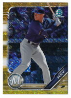 COREY RAY 2019 BOWMAN CHROME GOLD SHIMMER REFRACTOR #07/50 BREWERS BCP-207