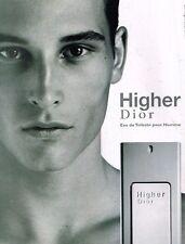 Publicité advertising 2002 Parfum Higher de Dior
