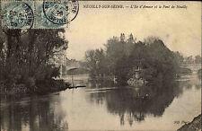 NEUILLY-sur-Seine FRANCE ÎLE-DE-FRANCE 1906 L 'ILE D AMOUR PK avec timbre