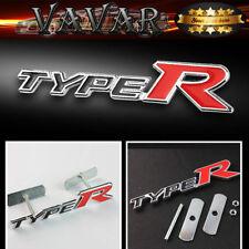 HOT RED typeR Logo 3D Metal Racing Front Hood Car Grille Grill Badge Emblem