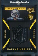 2015 Panini Black Gold Seal Of Approval Marcus Mariota ROOKIE RC Serial #1/5