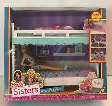 NEW Barbie Sisters Doll Bunk Beds & Stacie Bed For Chelsea NRFB