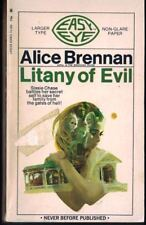 Litany of Evil Alice Brennan Lancer First Print 1969 Gothic Larger Type Easy Eye