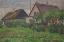 IMPRESSIONIST - HANS BRYGGE (1885-1979) LISTED ARTIST - BAUERNHÄUSER IN SOLRÖD